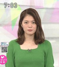 質問です。 1.9月5日の川崎理加アナ、グリーンのトップスは素敵でしたか?  2.可愛さ度は如何でしたか(100点満で)?  (◆danさん用◆)