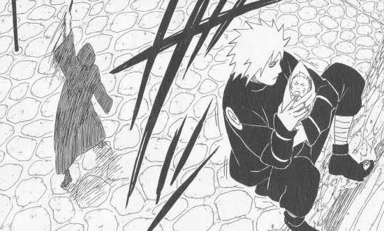 NARUTOの話なんですが、この時の技は瞬身の術ですか?飛雷神の術ですか? 瞬身について調べるとこの画像が初めに出てきます。