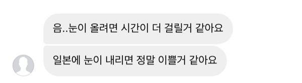 韓国人の友達に 韓国では雪は降るのかと聞きました。 これはなんと返信してきていますか?