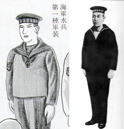 日本海軍の水兵について 兵用の第一種軍装(水兵服)はサイズピッタリに着る感じなんですか?それとも少しブカブカに着る感じですか? 映画や写真等で、サイズピッタリの水兵服を着ている水兵とダボダボな水兵服を着ている水兵の両方が居るのでどちらが正しいのか分かりません。 また、サイズピッタリとダボダボ、軍装するならどちらの方がリアルですか? 回答よろしくお願いいたします!