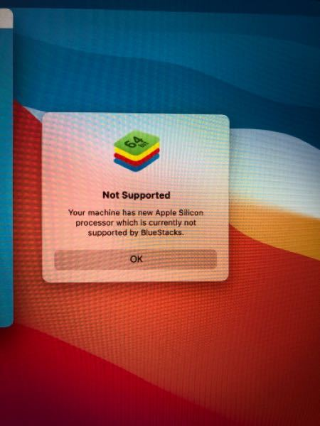 macにbluestacks4をインストールしようとすると写真のような文がでてきて、インストールできません。どうすれば開くことができますか?