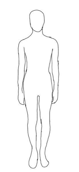この体型の骨格を教えてください。