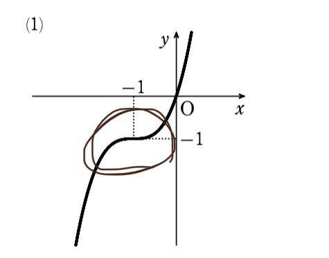 高校数学 微分のグラフについてです 写真の丸の部分のように、少し平にするのは何か理由があるんですか?? 平らにしないグラフもあって違いがよく分からないです。
