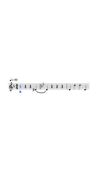 仮にこういう楽譜があったとして、それぞれの音符を全てドイツ音名B♭CDEsFGAB♭で表して欲しいです。 クラリネット 楽譜