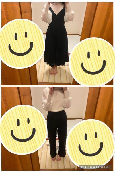 このトップスの合わせ方おかしいですか? ワンピースだともっとシンプルなTシャツが良いでしょうか? 逆にズボンだとトップスだけヒラヒラかわいい要素があり合わないでしょうか?