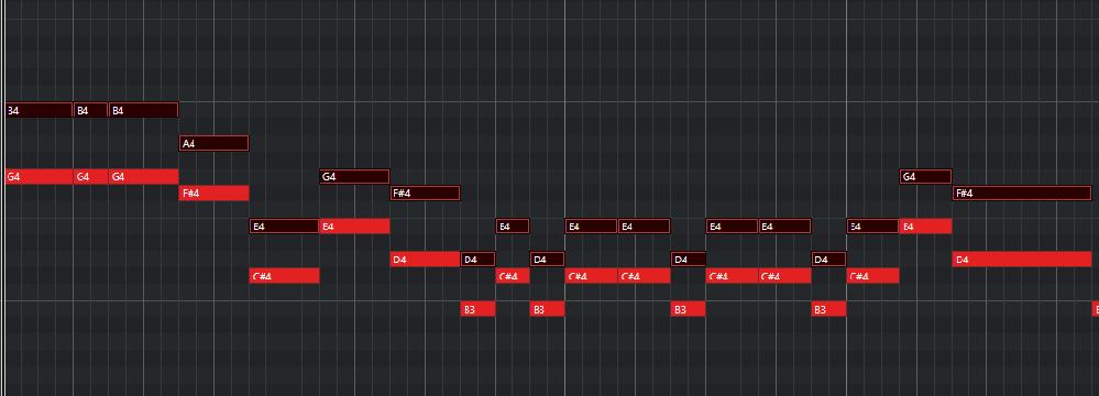 音楽理論 ハモリについて 非常に初歩的な質問なのですが、3度下の下ハモのメロディはこれであっていますか?(キーはBmです) どうも音が気持ち悪い気がしてしまうというか、自信が持てません。理論的に...
