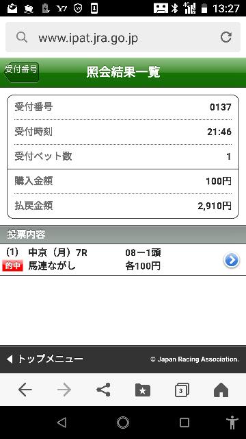 中京10レース 9―2.3.7.8.10.12 なにかいますか? 7レース中穴1点でゲット