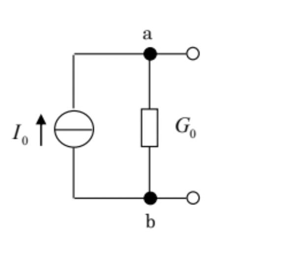 電気回路での質問です、左側にある丸い記号は何を表していますか?