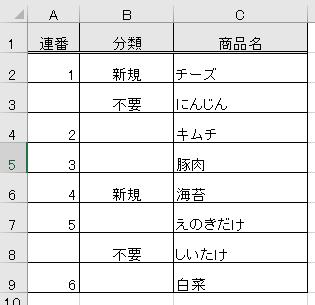 Excelの関数について質問です。※画像参照 B列に「不要」と入力されているもの以外を 連番でカウントさせたいです。 A2にどのような関数を打ち込めばいいのでしょうか。 色々調べたのですがわからず、お力添えください・・・。