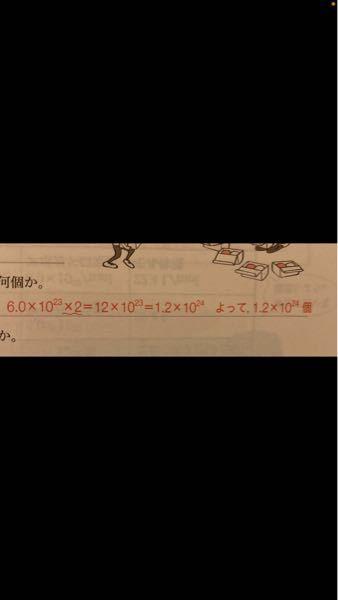これ教えてください!! 1.2×10^24になる所が分かりません