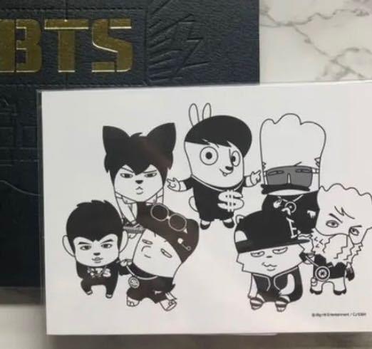 これらのキャラクターは、BTSのメンバーのそれぞれどれですか?