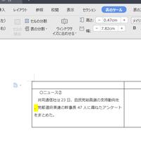 ワード【PC】 文頭に「、」を右上に配置したいのですが、セルを動かす以外に方法はありますか? ※画像以外にもたくさん文書はあり、ほかの文も文頭に「「)」、「、」、「。」」が配置されていしまいます。  よろしくお願いします。