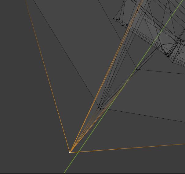 blenderの分割ミラーしたところでその頂点を動かすとなぜか二つに分かれるのなぜですかね?