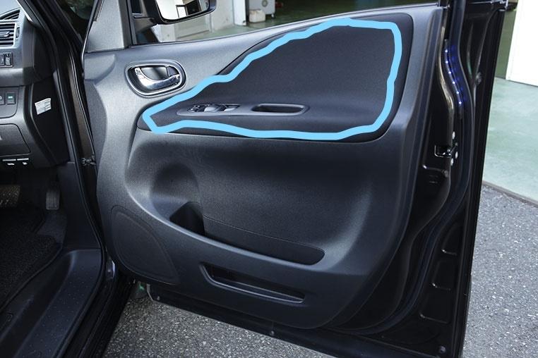 セレナ C27 前期 運転席ドアの内張ですが、この青丸の部分だけ、 新品で交換は可能でしょうか? もしくは、社外品で代替になるような商品はありますか?