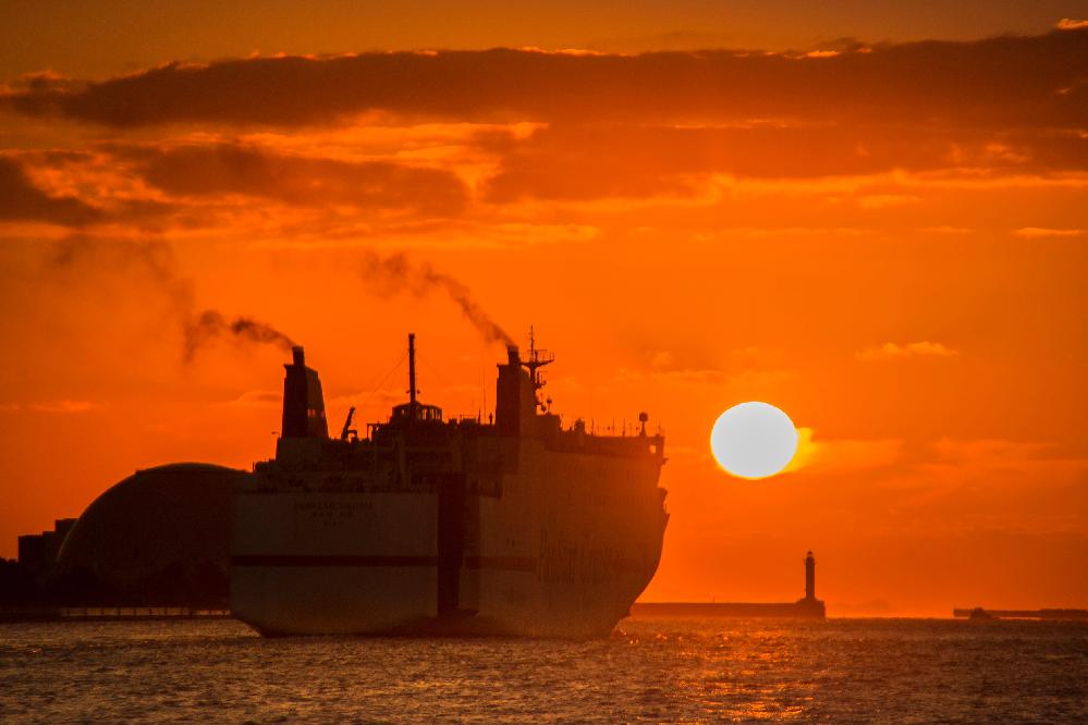 大阪南港で見た船舶、 船の酒類、航路等教えて下さい