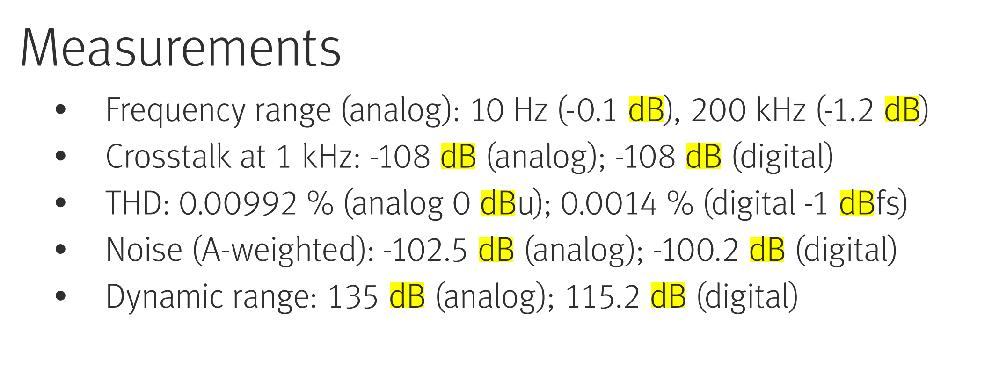 オーディオ機材のUSB-DACでは、XLR端子出力より光出力はダイナミックレンジが低くなるのでしょうか? 以下の高級機を見たらそうなってました。 この傾向は、ほとんどの機材で同様でしょうか? だ...