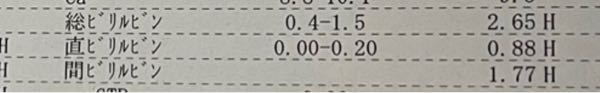 溶血性貧血を患っているのですが、このビリルビンの数値ですと軽い黄疸ですか?