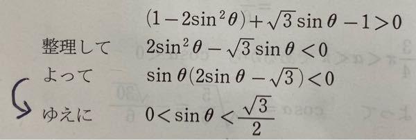 なぜ0以上だと分かるんですか? 条件は0小なりイコールθ小なり2πです。