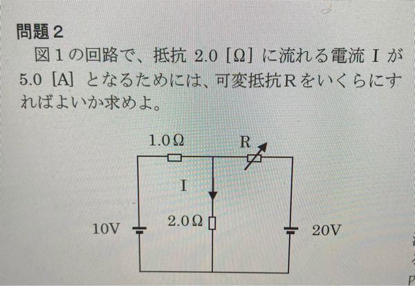 この問題の解説お願いします ♂️ 答えは2Ωです。