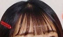 この前髪の名前を教えてください