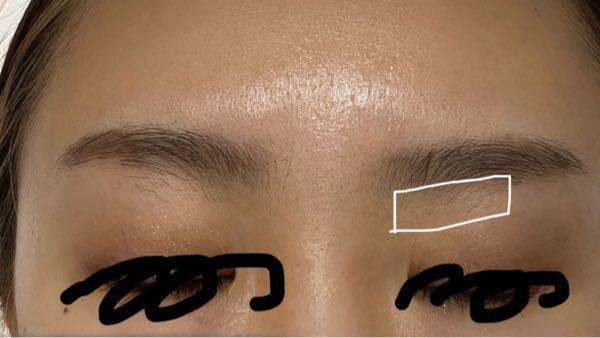 この部分の眉毛って、どのように処理すればいいのでしょうか?