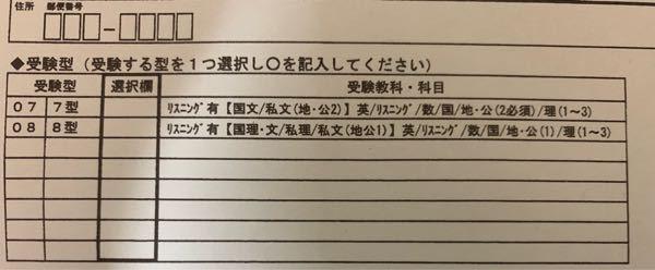 河合塾の第3回全統共通テスト模試を受けるのですが国語と日本史と英語(リーディングとリスニング)だけを受けたい場合どちらに丸をすればいいでしょうか??
