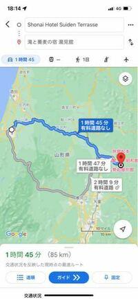 すません、山形のSHONAI TERRAEから銀山温泉まで車で行きたいのですが、山道で雪も降っていますか?