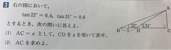数学I 三角比 この問題の解き方を教えてください。