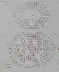 この写真の10段目からの編み方を教えて下さい  9段目から10段目にいくように思えますが、別々に編むのではないのですか?  どなたか分かるお方いますか?