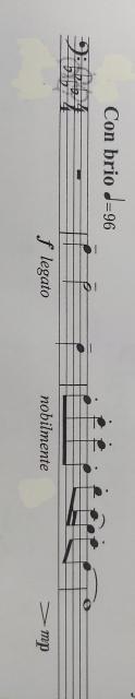 トロンボーンのポジションの事で質問です。 3小節目 ♭ラA ♭ミE ♭ミE ♭ラA ♭レD ドC ♭シB ドC ♭ラA の所ですが、JCBハンドスタディーのポジション表には、高い♭ミEの3ポジションは、低めにとります、と書いて有るのですが、低めにとる、の意味はスライドを少し抜くと言う意味ですか? 先生には3小節目は低めにとらなくていい、むしろ高めに取る位でいい、と言われましたが、なぜですか? フルスコアは持っていません。 宜しくお願いします。