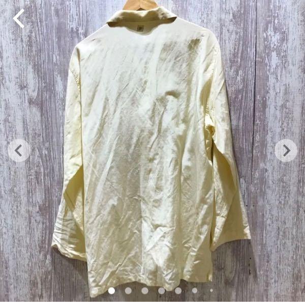 メルカリにして添付した写真のシャツを購入しようと考えています。見た感じかなりシワがあるのですが、購入後アイロンをかければ元通りになると思いますか?ちなみに素材はシルク、リネン、コットンです。回答よろし くお願いします。