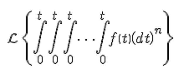 このラプラス変換の計算方法を教えてください。