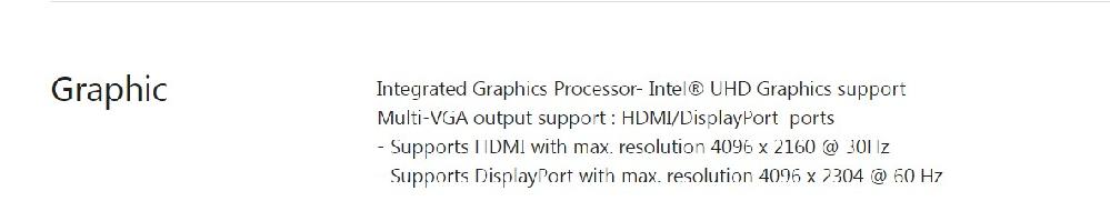 マザボの映像出力はHDCP対応してない? ASUS ROG MAXIMUS XI HERO WIFIマザーボードを使用した自作PCを使用中。 ASUS代理店は、光学ドライブを市販の4K映像作品のUHD-BDディスクが再生できるBDXL対応UHD-BDドライブに交換したとしても、マザーボードのバックパネルの映像出力(HDMI2.0やDPポート)がHDCP2.2(4K対応の著作権保護技術を解除する規格)に対応していないので、UHD-BDディスクの再生は無理と言います。ASROCK等のマザボのバックパネルのHDMIやDP出力はHDCP対応と書かれてあります。冒頭の私が使用しているマザーボードのバックパネルの映像出力は本当にHDCPに対応していないのでしょうか?SPECを見てもHDCPの記載はありません。どなたが詳しい方教えてください。 マザボバックパネル映像出力の仕様 Integrated Graphics Processor- Intel® UHD Graphics support Multi-VGA output support : HDMI/DisplayPort ports - Supports HDMI with max. resolution 4096 x 2160 @ 30Hz - Supports DisplayPort with max. resolution 4096 x 2304 @ 60 Hz