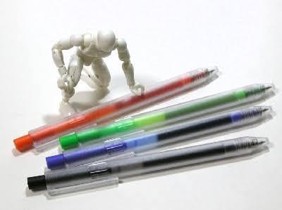 無印良品で発売されていた選べるリフィルペンの赤、中性、0.5を探しております。 なかなか情報が出てこないのですが、廃盤なのでしょうか。回答よろしくお願いします。 画像のような感じです。