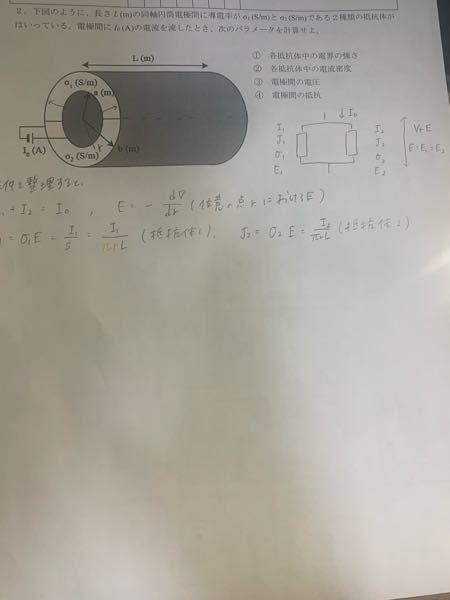 電磁気学 物理 j =〜 のところのsが円筒の断面積ではなく、側面積なのはなぜですか? 普通断面積なので、ここでは半円になりませんか?