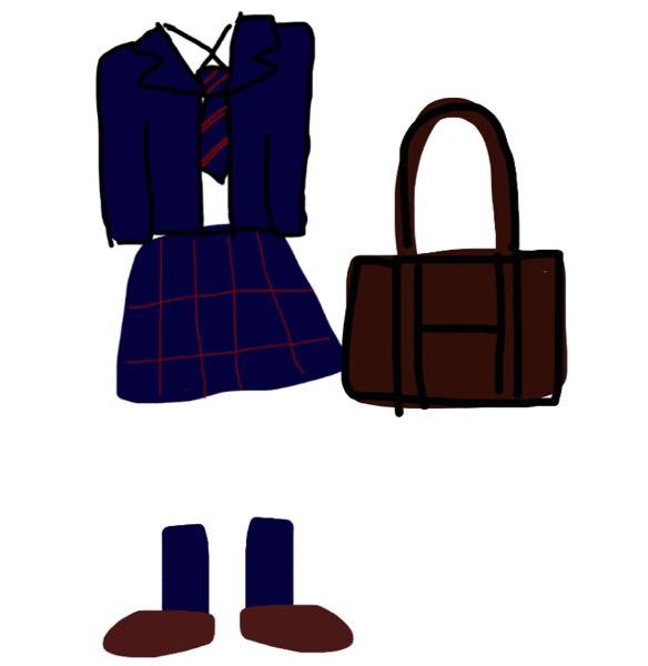 制服の色合わせについて!! この場合、カーディガンとマフラーは 何色が合うと思いますか?? ブレザー…濃紺 スカート…濃紺で赤の細いチェック リボン…紺に赤の細いライン 靴下…紺 ローファー…茶色 スクールバッグ…茶色 絵が下手でごめんなさい(;;) 色のイメージはこんな感じです!! 実際はもう少し暗めです。