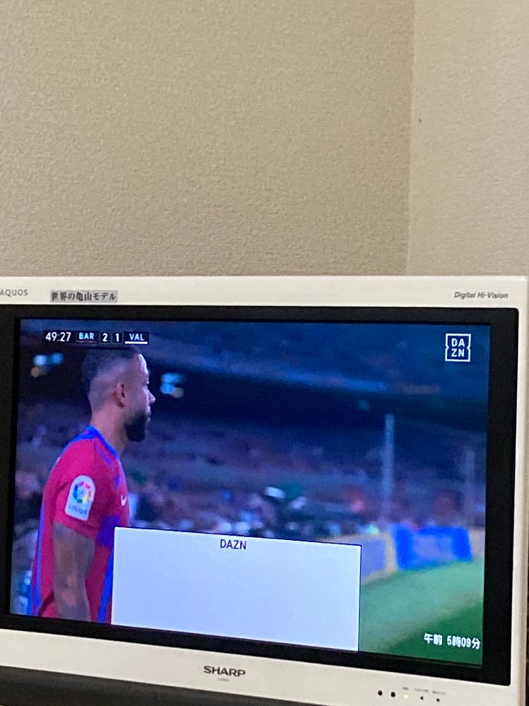 fire tvについて 画像のように テレビ画面下に 白枠の表示が出たままです 消すにはどうしたらいいですか?