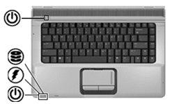 初めまして。 パソコン初心者です。 HPノートパソコンの側面にあるCDが三枚重なっているようなマークがずっと点滅しているのですが、これって何でしょうか? この画像ですと上から二番目のマークです。 よろしくお願いします。