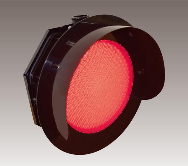 オーバーハング型踏切の上の方にとりつけるこういう巨大なタイプの警報灯はLEDしかありませんか?