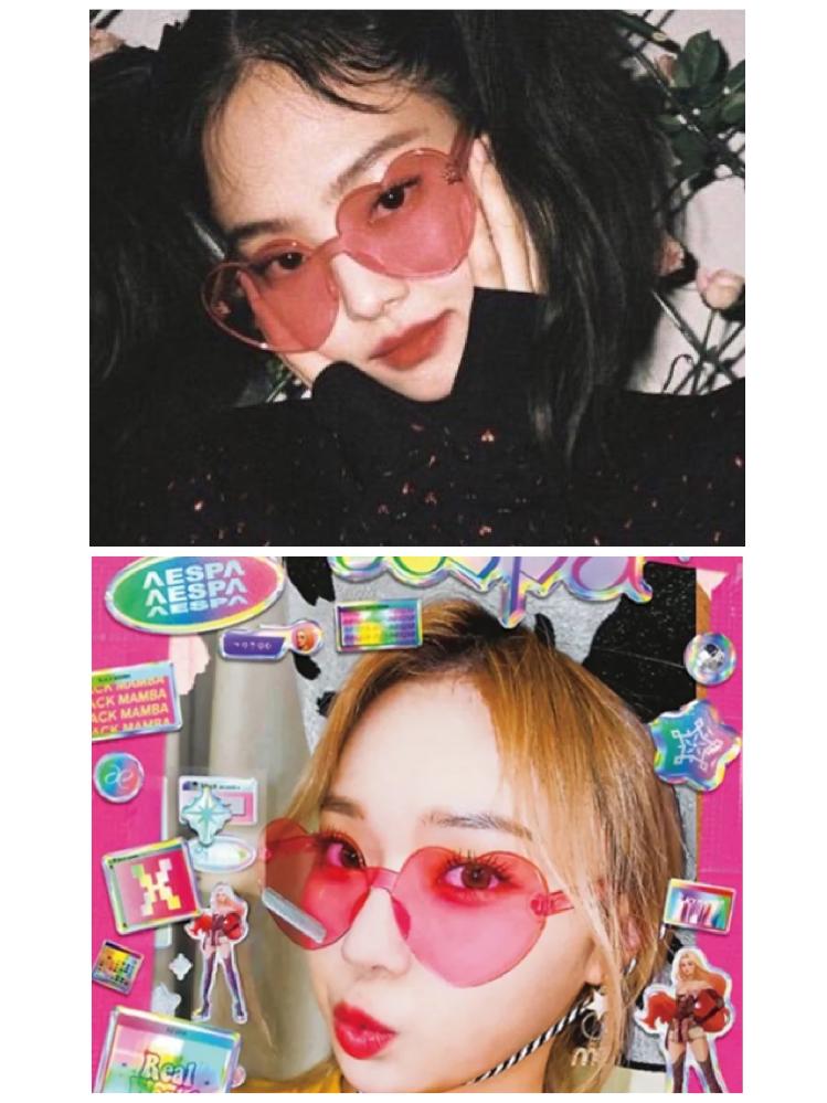 BLACKPINKのジェニやaespaのウィンターがつけてるハートのサングラスってどこに売ってますか?