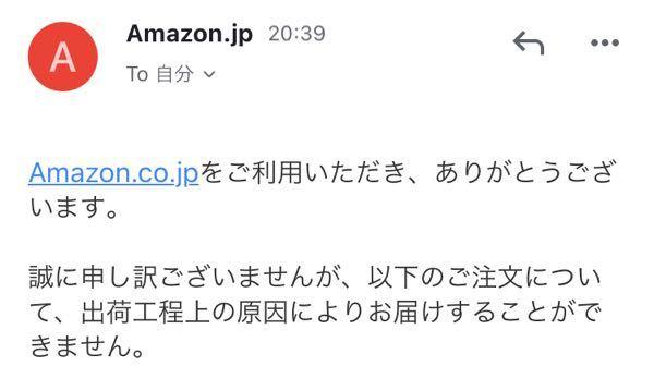 Amazonからメールが届いたんですけど、どうすればいいですか?返金手続きをすればいいですか?