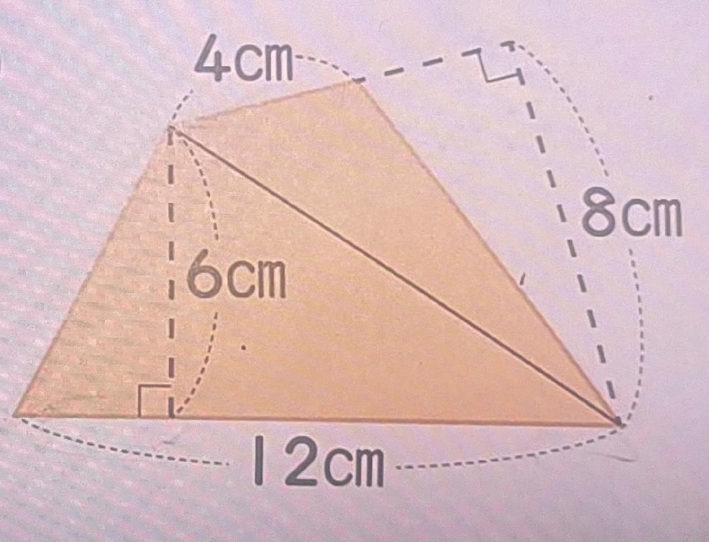 このオレンジの面積はどう出せばいいですか?