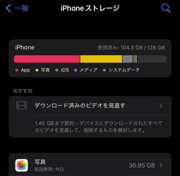 iCloudを使っているのに、iPhone内に写真がこんなにあるのはなんでですか? ※iCloudの容量はまだまだ空いています