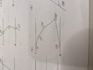 この角度の問題が分かりません。。。 多角形の内角若しくは外角で解くのか 平行を利用すればいいのか。。。 教えて頂けませんか?? よろしくお願いします!