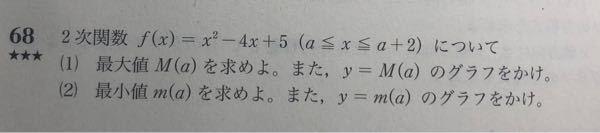 この問題の(2)で質問です 参考書の解答↓ a+2<2、a<2≦a+2、2≦aの場合分け 自分の解答↓ a+2<2、a≦2≦a+2、2<aと場合分けしたのですが駄目でしょうか?
