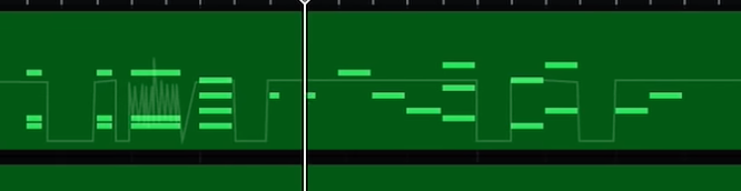 DAWについての質問です。 画像のような糸みたいなやつの機能名を教えて下さい。 FL Studioで同じような事をどうやってするか教えて下さい。