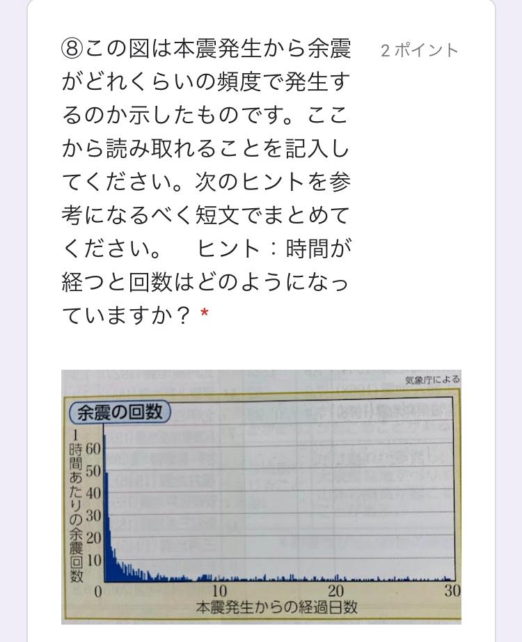 地学の地震の問題です。 わからないので教えてください、、!