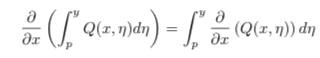 2変数関数Q(x,y)は 領域D={(x,y)|a<x<b,c<y<d}でC1 級であるとする。c<p<dとするとき, D において次が成立することを示せ。 ∂/∂x(∫Q(x, η)dη = ∫∂/∂x(Q(x, η))dη この問題分かる方いましたら教えてください!
