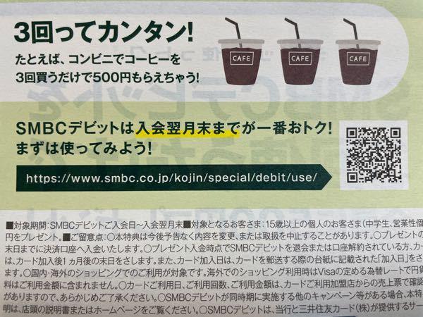このSMBCデビットカードの3回使うと500円もらえるってネットショッピングでもいいんですか?