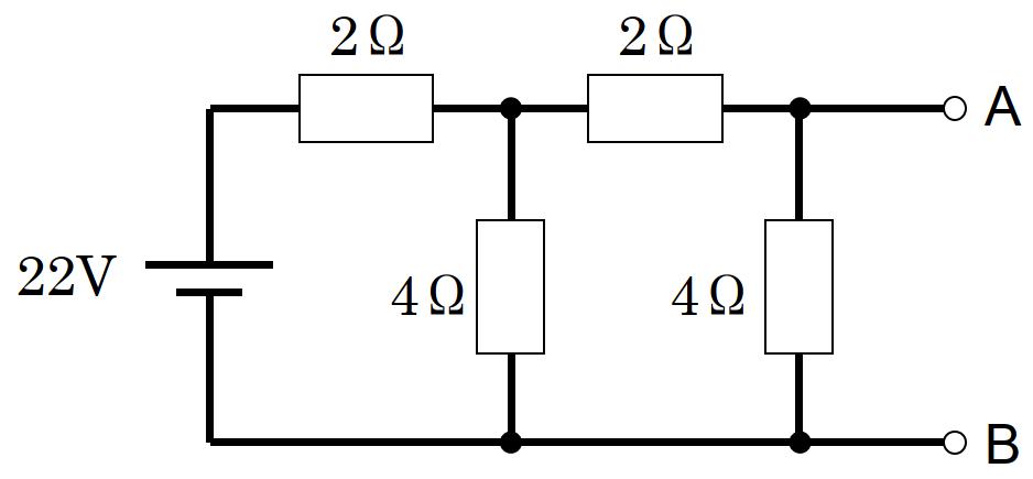 端子ABから見たテブナンの等価電圧とテブナンの等価抵抗、端子ABから見たノートンの等価電流とノートンの等価抵抗の計算方法を教えてください。